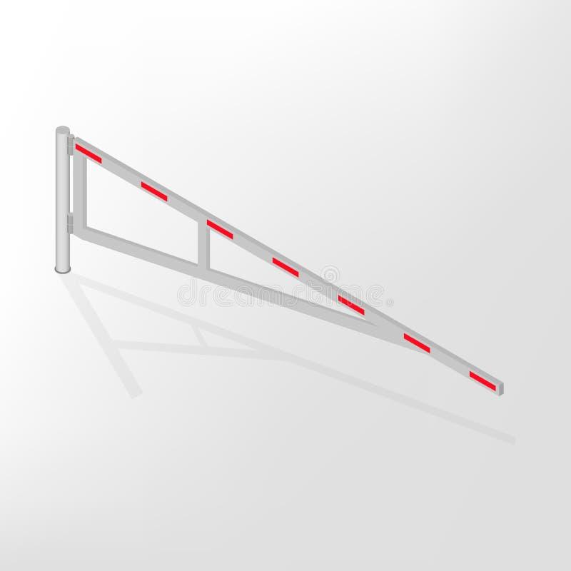 Mechanische barrière isometrische, vectorillustratie stock illustratie