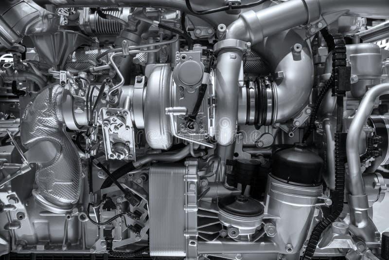 mechanische dieselmotorachtergrond royalty-vrije stock afbeeldingen