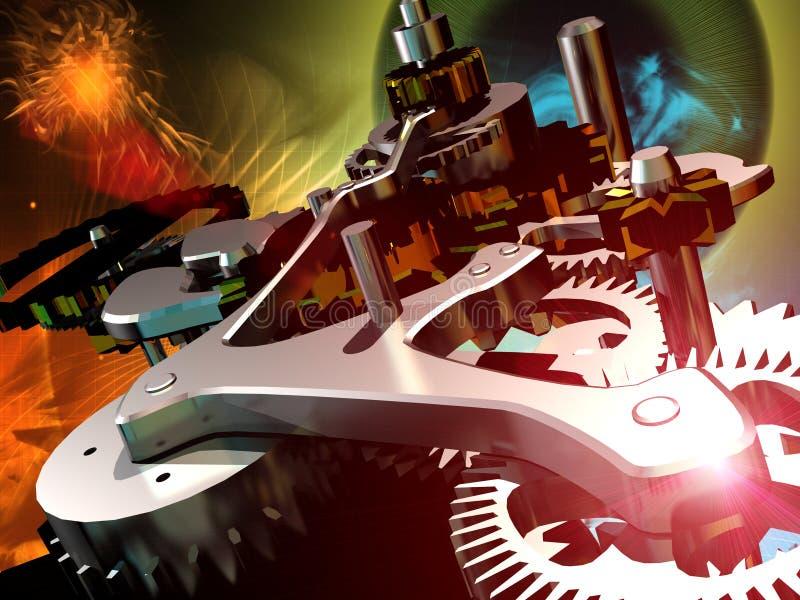 Mechanische klok royalty-vrije illustratie