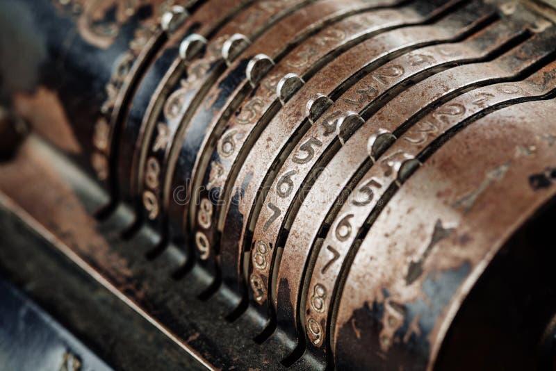 Mechanische manuelle Zählungsmaschine der Weinlese stockfotos