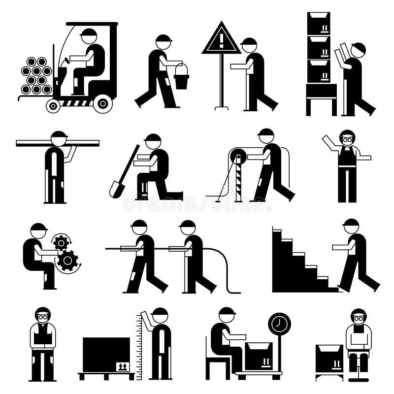Mechanische mensen, de dienstarbeider stock illustratie