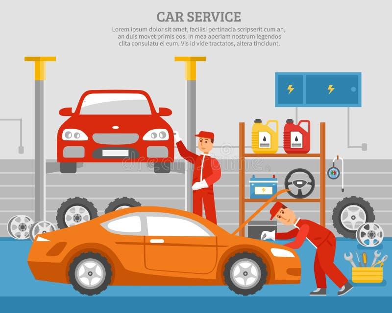 Mechanische Services des Autos lizenzfreie abbildung
