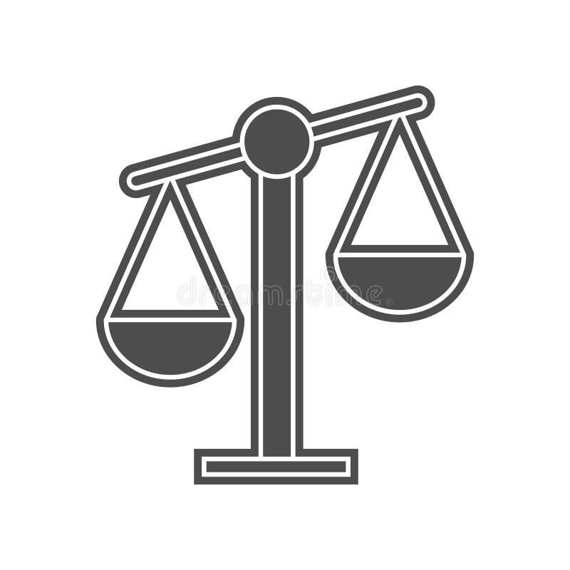 Mechanische Skalaikone Element von minimalistic f?r bewegliches Konzept und Netz Appsikone Glyph, flache Ikone f?r Websiteentwurf lizenzfreie abbildung