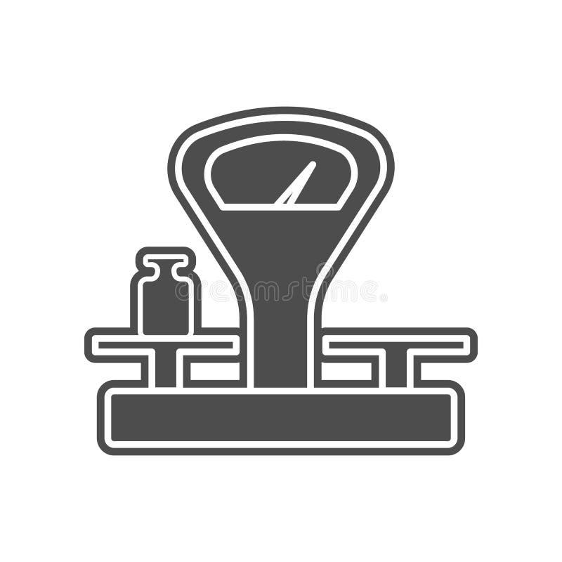 Mechanische Skalaikone Element von minimalistic f?r bewegliches Konzept und Netz Appsikone Glyph, flache Ikone f?r Websiteentwurf stock abbildung