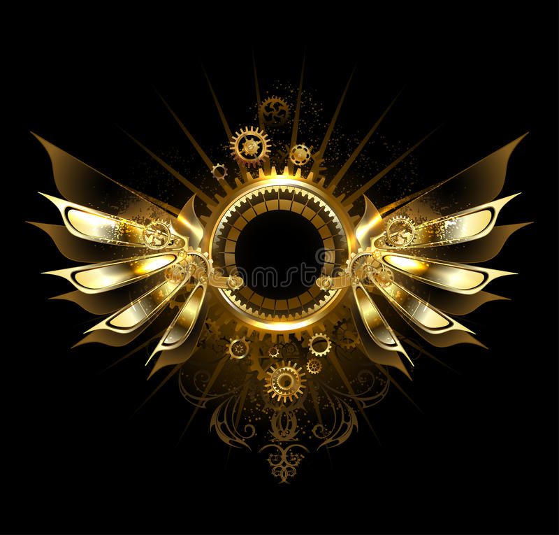 Mechanische vleugels royalty-vrije illustratie
