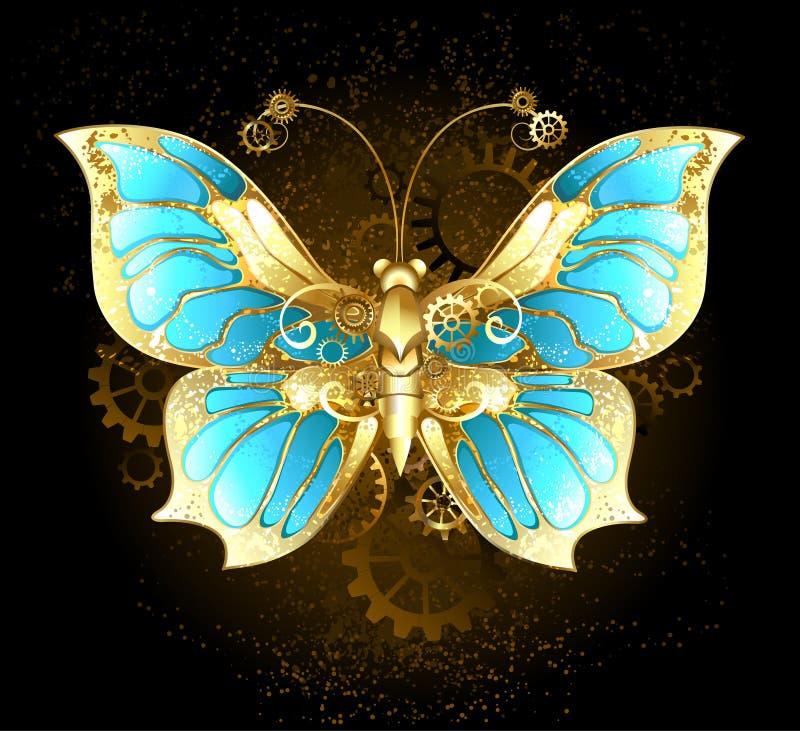 Mechanische vlinder stock illustratie
