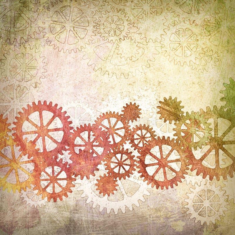 Mechanischer Grunge Hintergrund stock abbildung