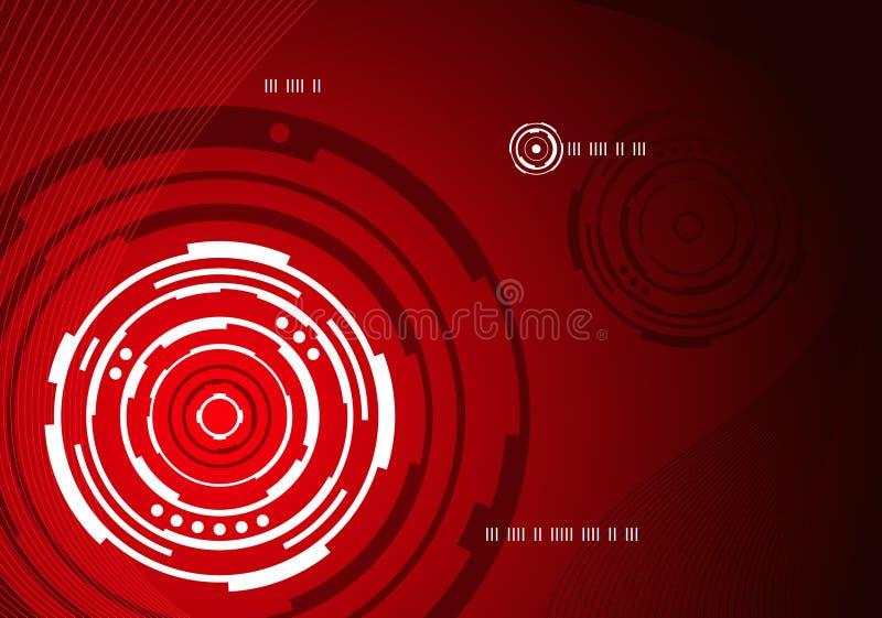 Mechanischer konzentrischer abstrakter Hintergrund vektor abbildung