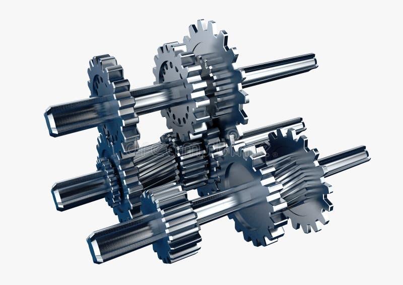 Mechanischer Motor stock abbildung