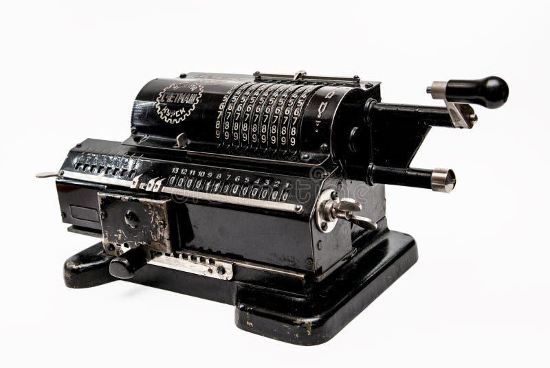Mechanisches arithmometer - Taschenrechner hergestellt in UDSSR stockfotografie