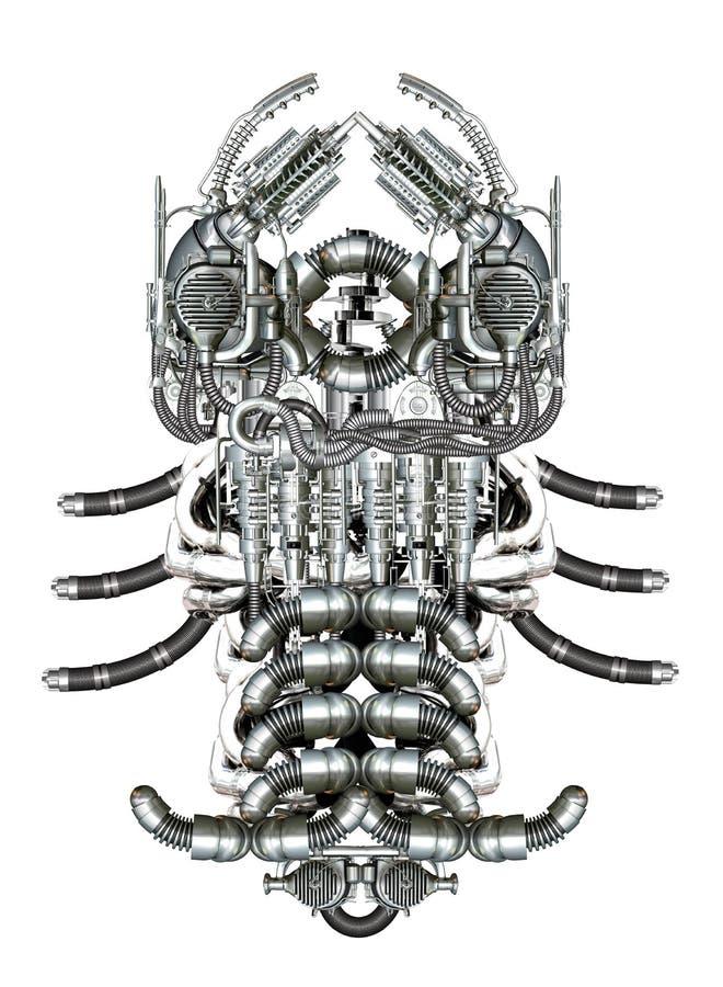 Mechanisches Fossil lizenzfreie abbildung