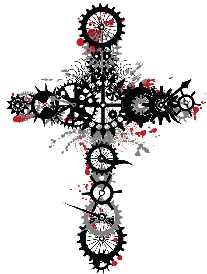 Mechanisches Kreuz vektor abbildung