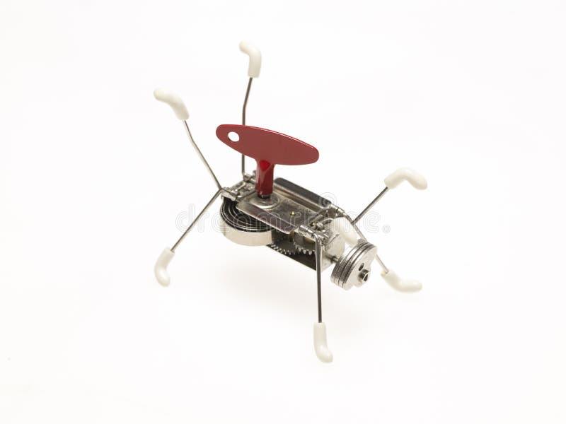 Mechanisches Spielzeug mit wickeln oben Taste stockfotos