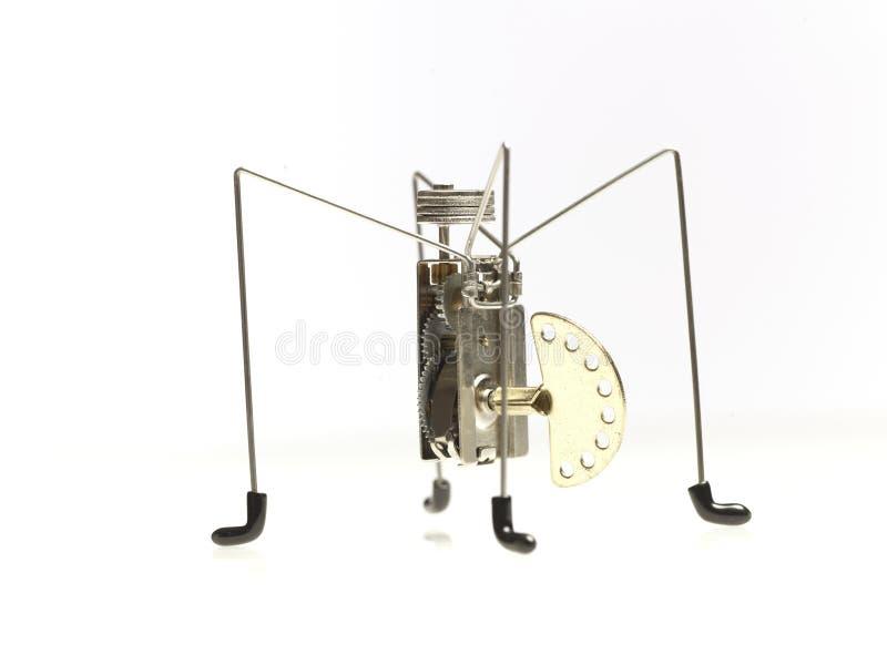 Mechanisches Spielzeug mit wickeln oben Taste lizenzfreie stockfotos