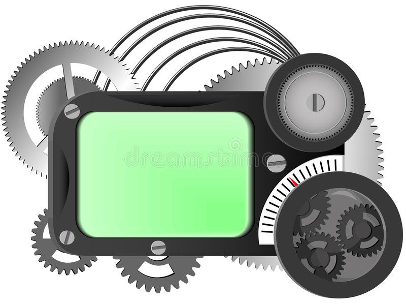 Download Mechanism from gears stock vector. Image of background - 7121038