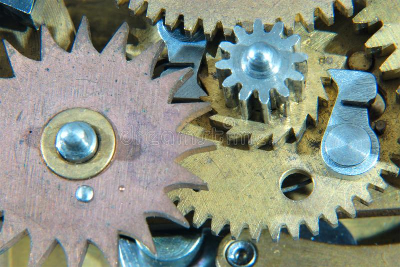 Mechanism vintage round gears royalty free stock image