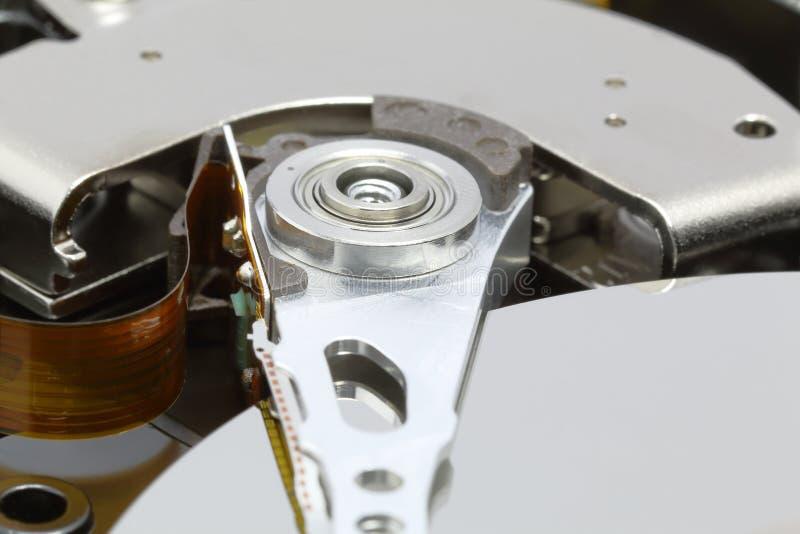 Mechanisme van actuator wapen binnen HDD royalty-vrije stock fotografie