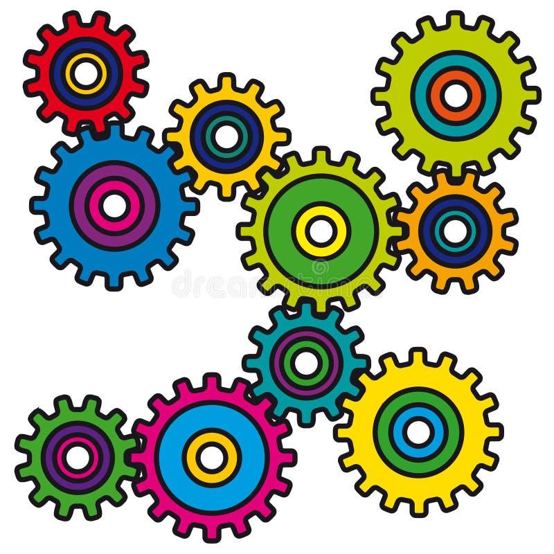 Mechanisme (vector) stock illustratie