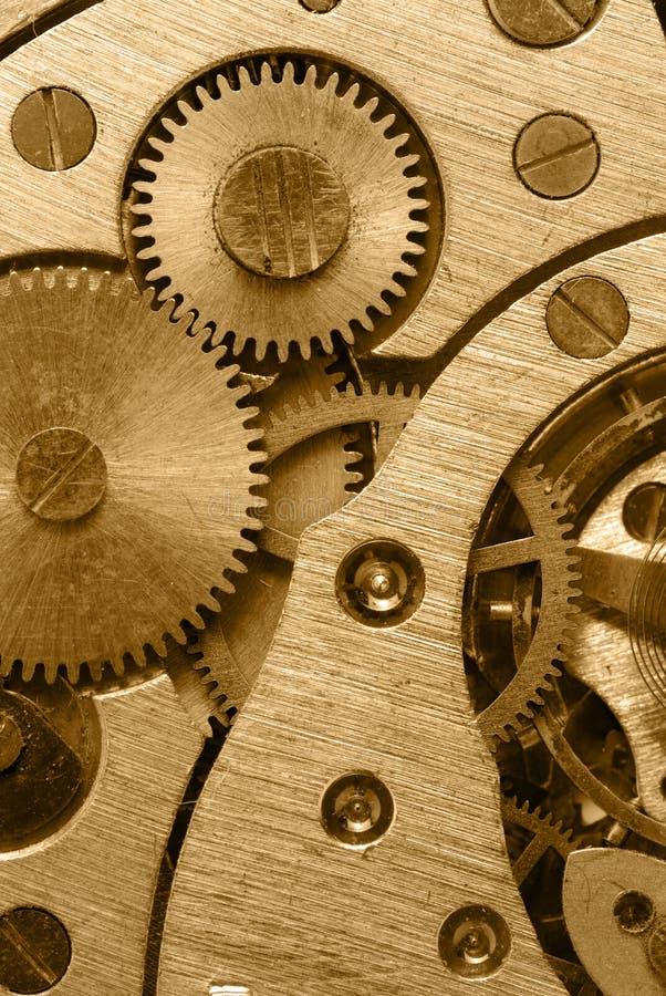 mechanizm analogowe złociste godzina zdjęcia royalty free