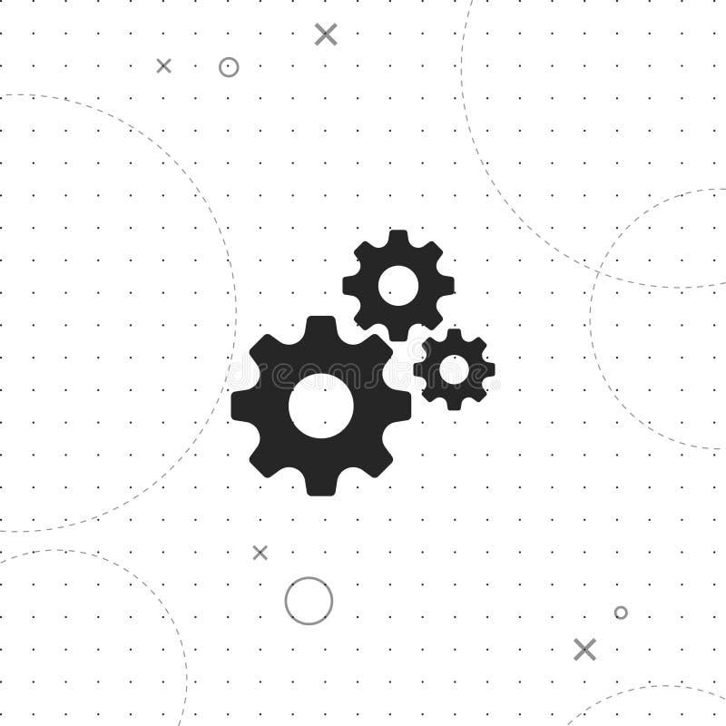 Mechanizm, przekładnia wektoru ikona ilustracji