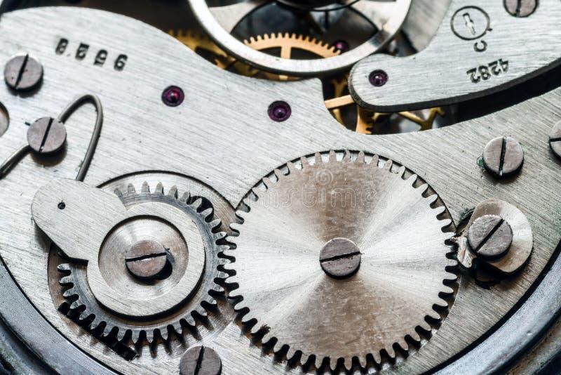 Mechanizm starzy machinalni zegarki zdjęcie stock