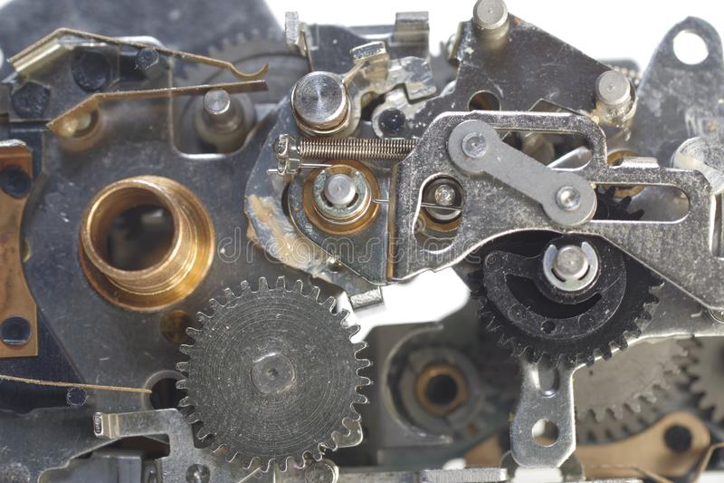 Mechanizm z cog-wheels fotografia royalty free
