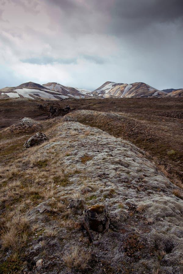 Mechaty pagórek w Iceland fotografia royalty free
