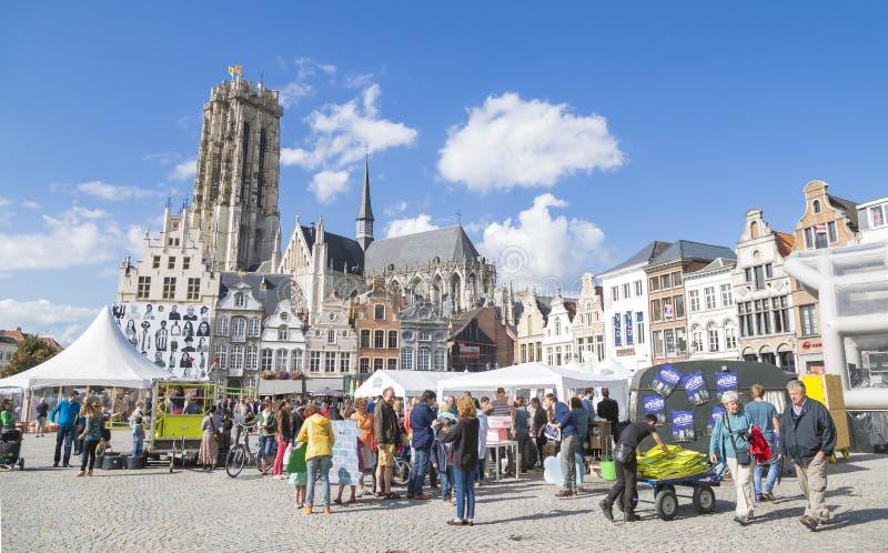 Mechelen Belgien royaltyfri bild