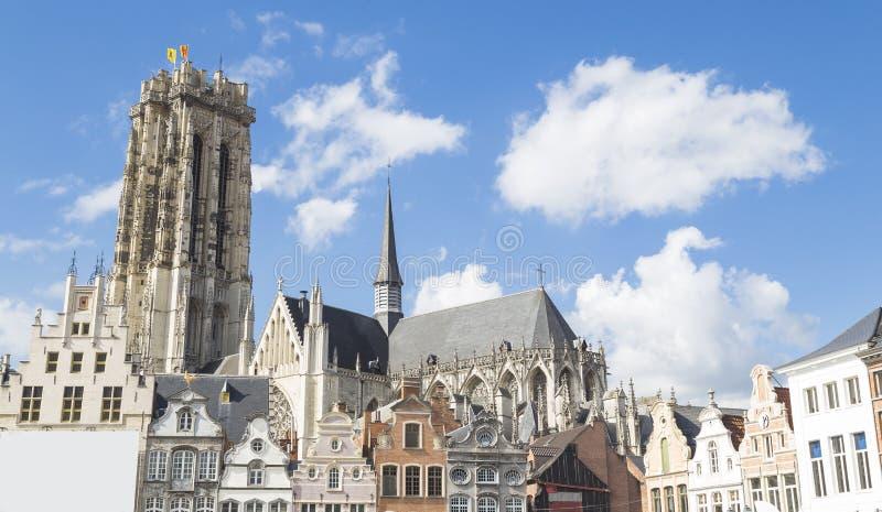 Mechelen Belgien arkivbilder