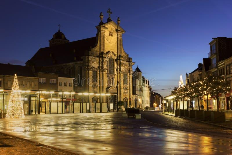 Mechelen in Belgien während des Weihnachten lizenzfreie stockfotos