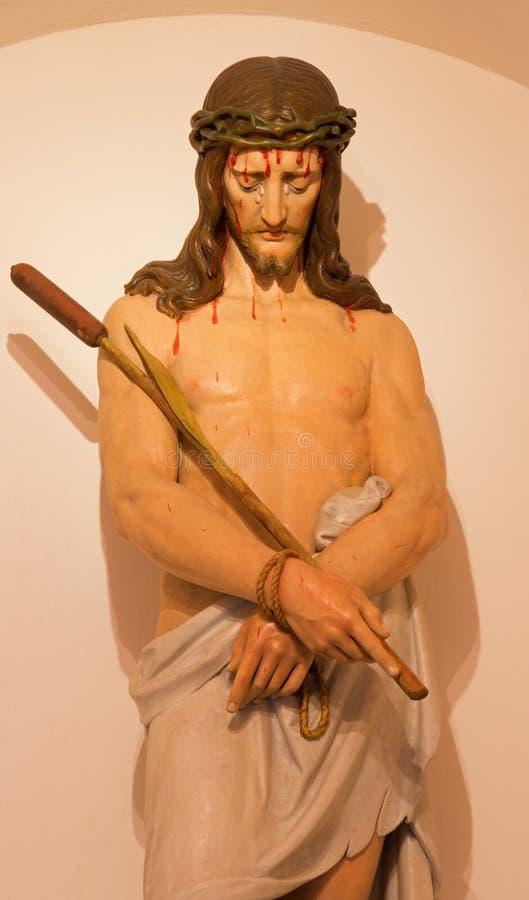 Mechelen - estatua de Jesús en el enlace en iglesia del n-Hanswijkbasiliek Onze-Lieve-Vrouw-va fotos de archivo libres de regalías