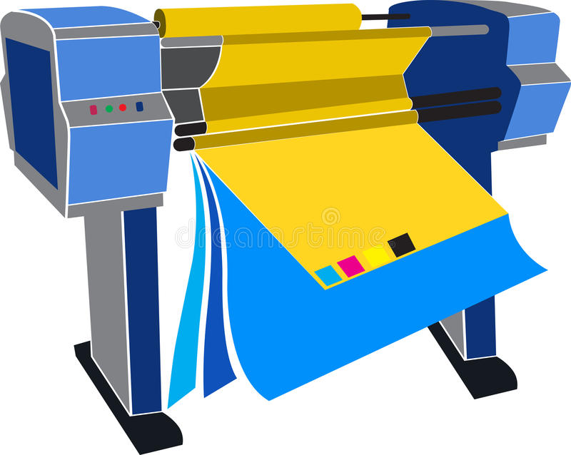 Mechine van de druk stock illustratie