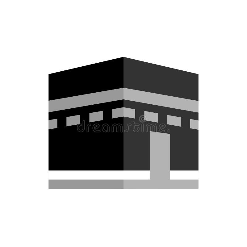 Mecka, hajj, omrah, umrah, kaaba, mosk?, muslim, islam och abstrakt begrepp logo, symbol, id?, symbol och m?rke f?r f?retag, vektor illustrationer