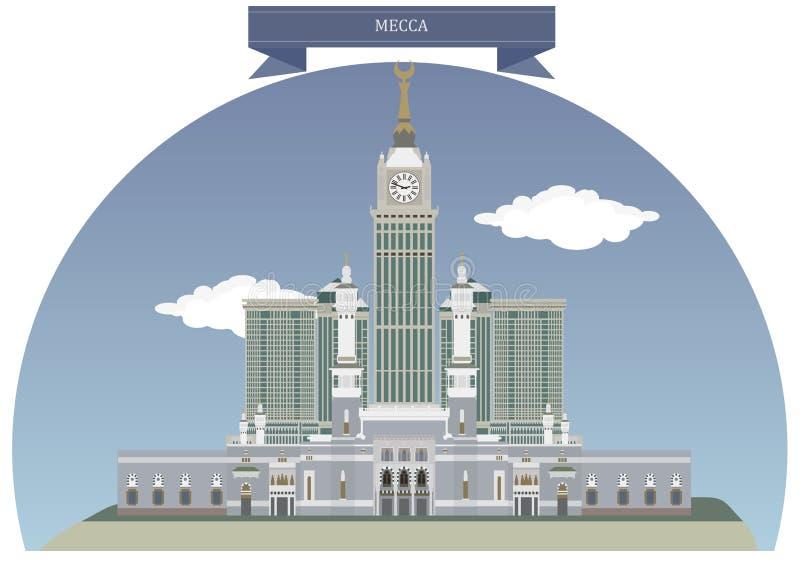 Mecka Saudiarabien vektor illustrationer
