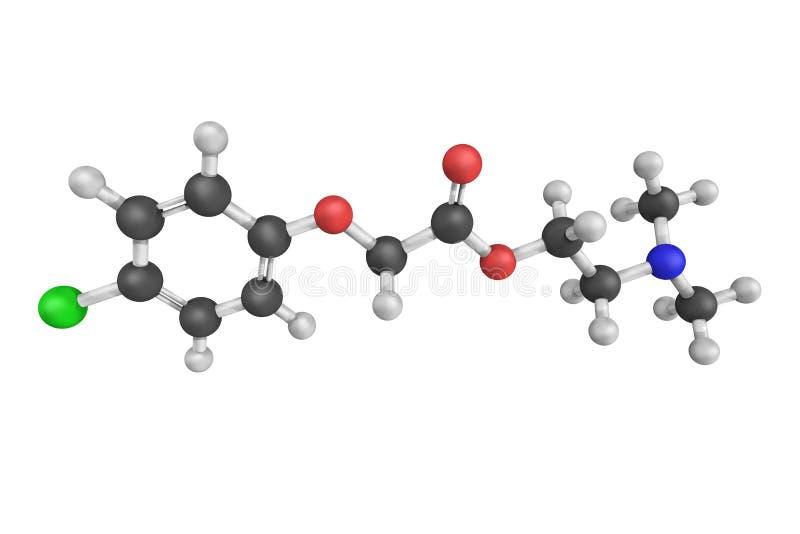 Meclofenoxate, als dieetsupplement en drug in trea wordt gebruikt die royalty-vrije stock fotografie