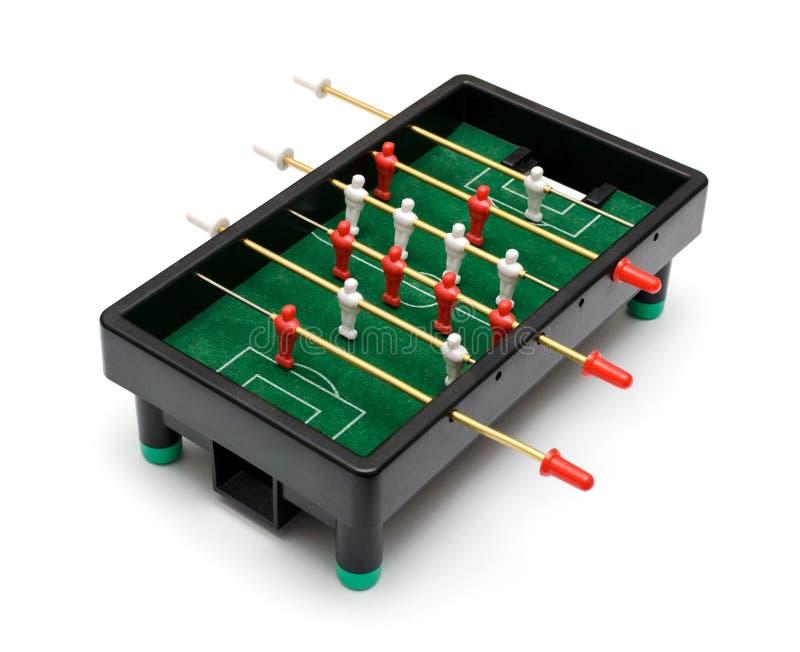 mecz futbolowy isolate graczów stół dwa obraz stock