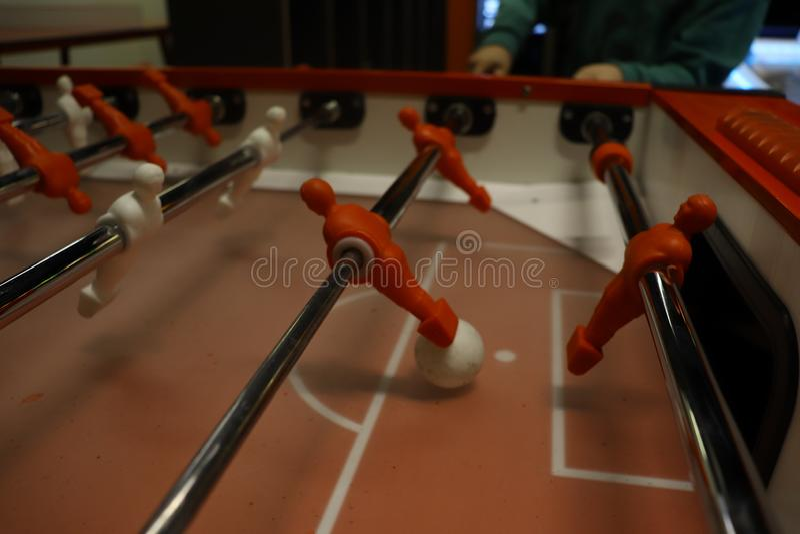mecz futbolowy isolate graczów stół dwa fotografia stock