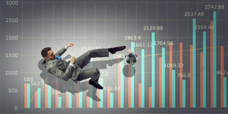 Mecz futbolowy statystyki Mieszani środki Mieszani środki obrazy royalty free