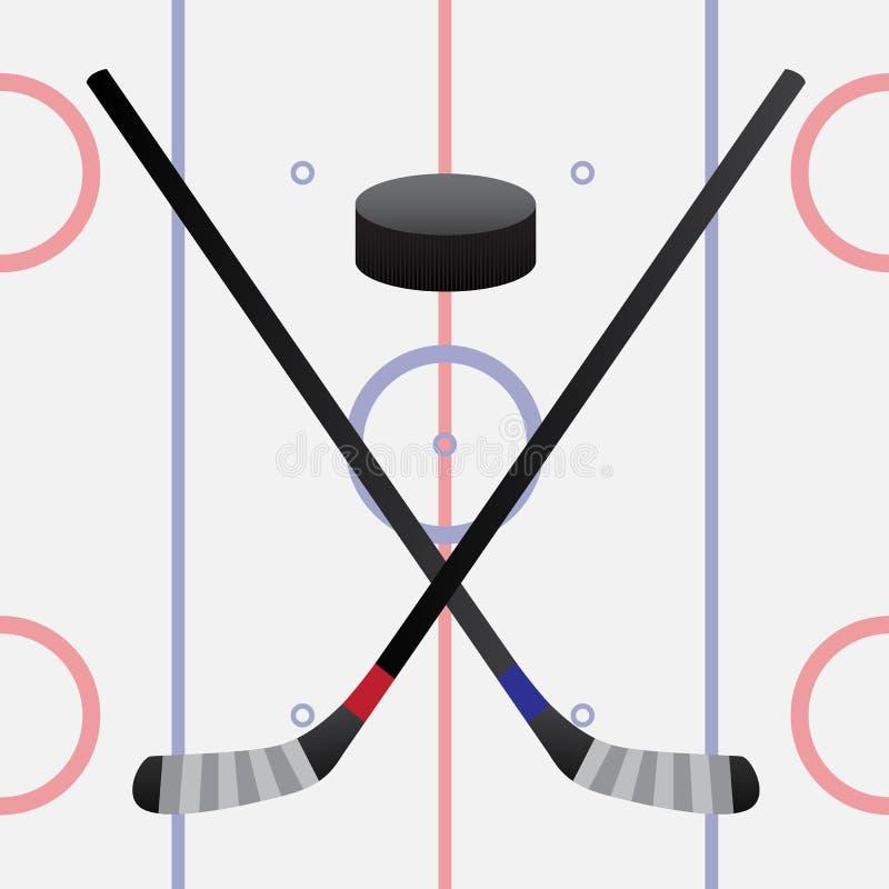 Mecz hokeja ilustracji
