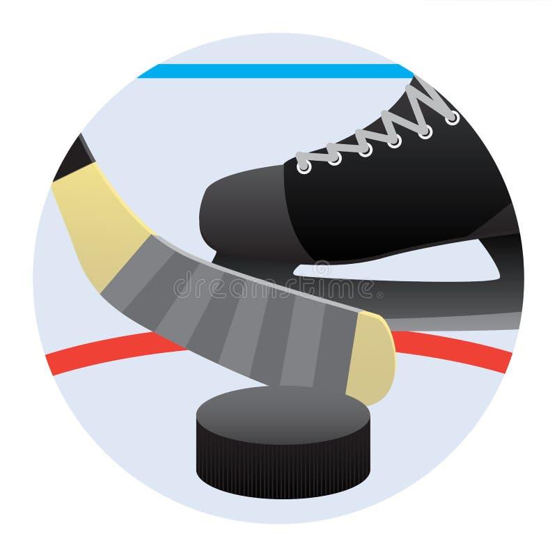 Mecz hokeja royalty ilustracja