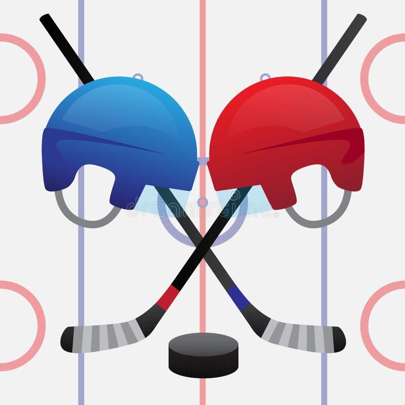 Mecz hokeja ilustracja wektor