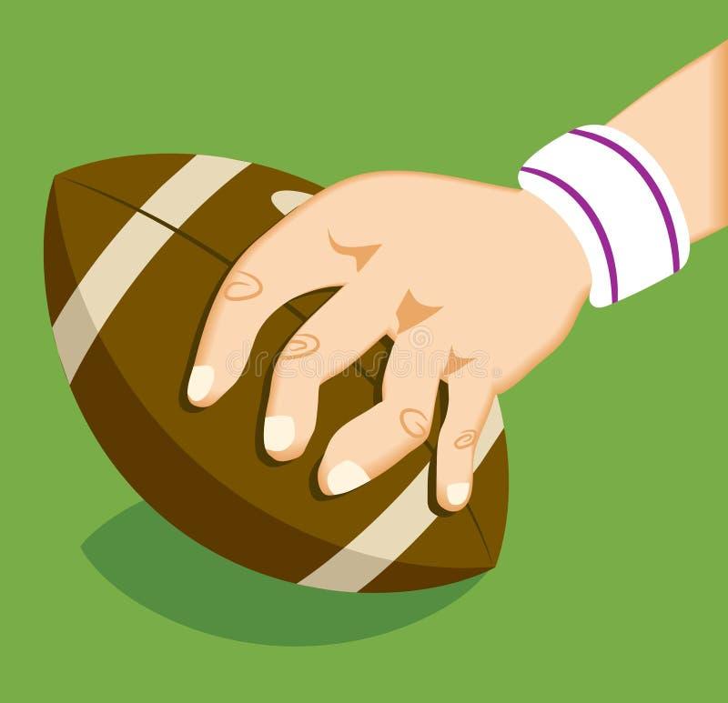 mecz rugby royalty ilustracja
