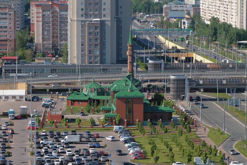 Meczet i miasto kazan Russia zdjęcia royalty free