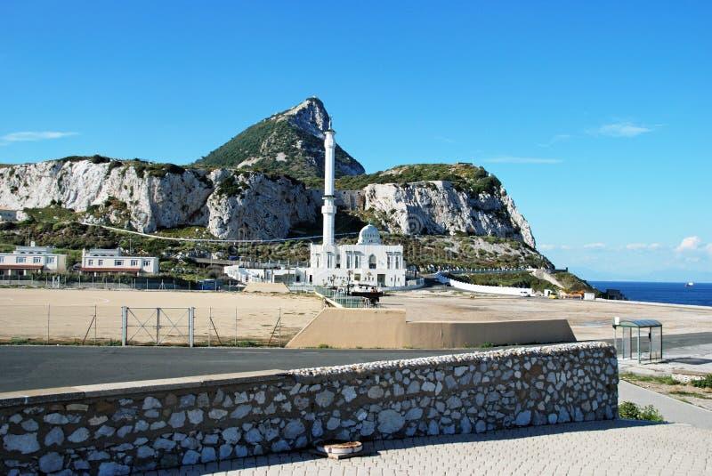 Meczet i skała Gibraltar zdjęcia royalty free