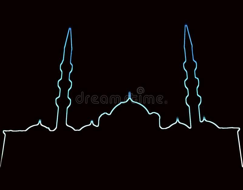 Download Meczet neonowego r ilustracji. Obraz złożonej z muslim - 105806