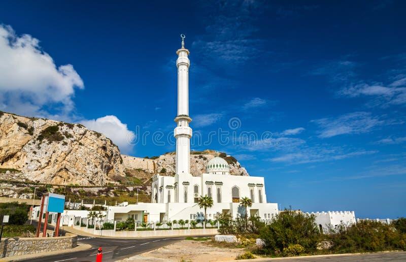 Meczet przy Europa punktem w Gibraltar zdjęcia stock