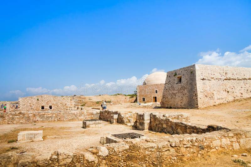 Meczet sułtan Ibrahim w Fortezza Rethymno obraz royalty free