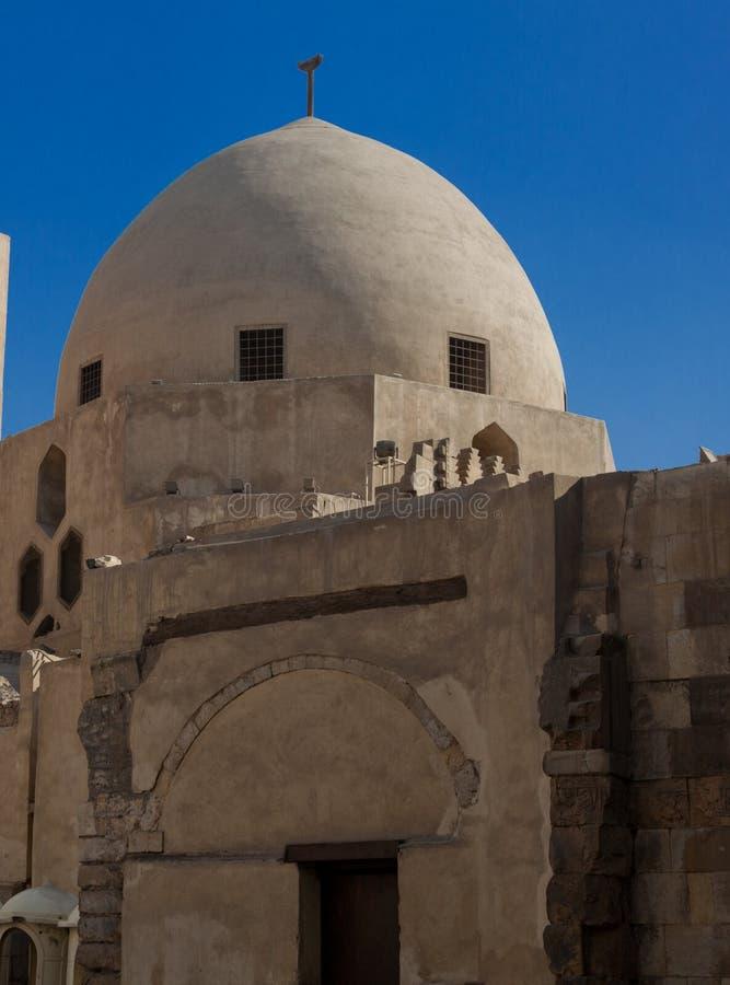 Egipski meczet z kopułą fotografia stock