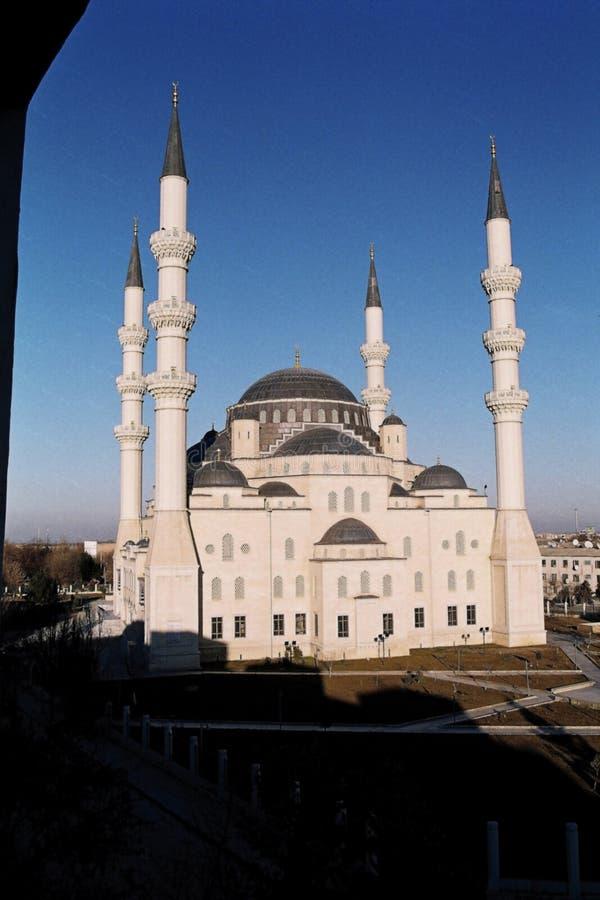Meczet w mieście obrazy royalty free
