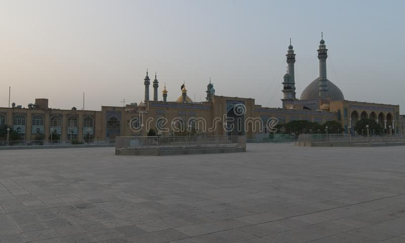 Meczet w Qom Wschód słońca w Iran fotografia stock